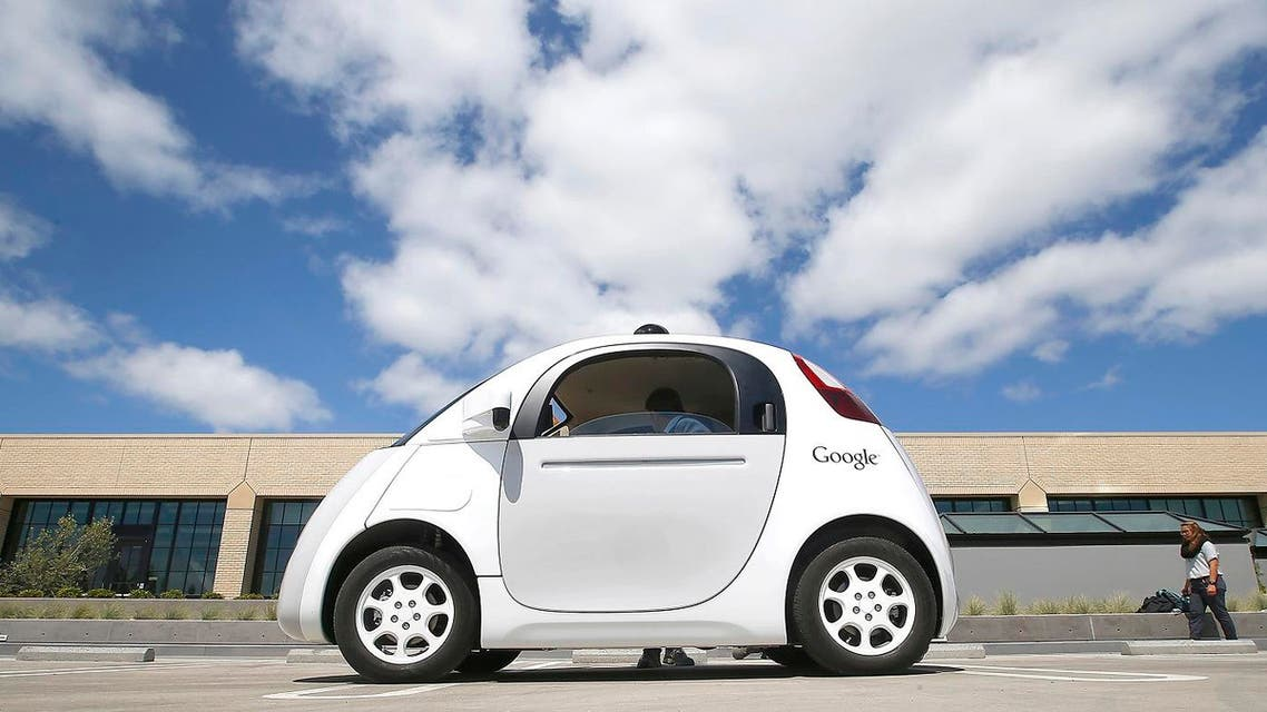 In this May 13, 2015, file photo, Google's new self-driving prototype car is presented during a demonstration at the Google campus in Mountain View, Calif. Google wants Congress to create new federal powers that would let the tech giant receive special, expedited permission to bring to market a self-driving car that has no steering wheel or pedals. The proposal, laid out in a letter to top federal transportation officials, reveals Google's solution to a major regulatory roadblock: U.S. law does not permit the mainstream deployment of cars with the design Google has been advancing, which would not allow a person to drive them. (AP)