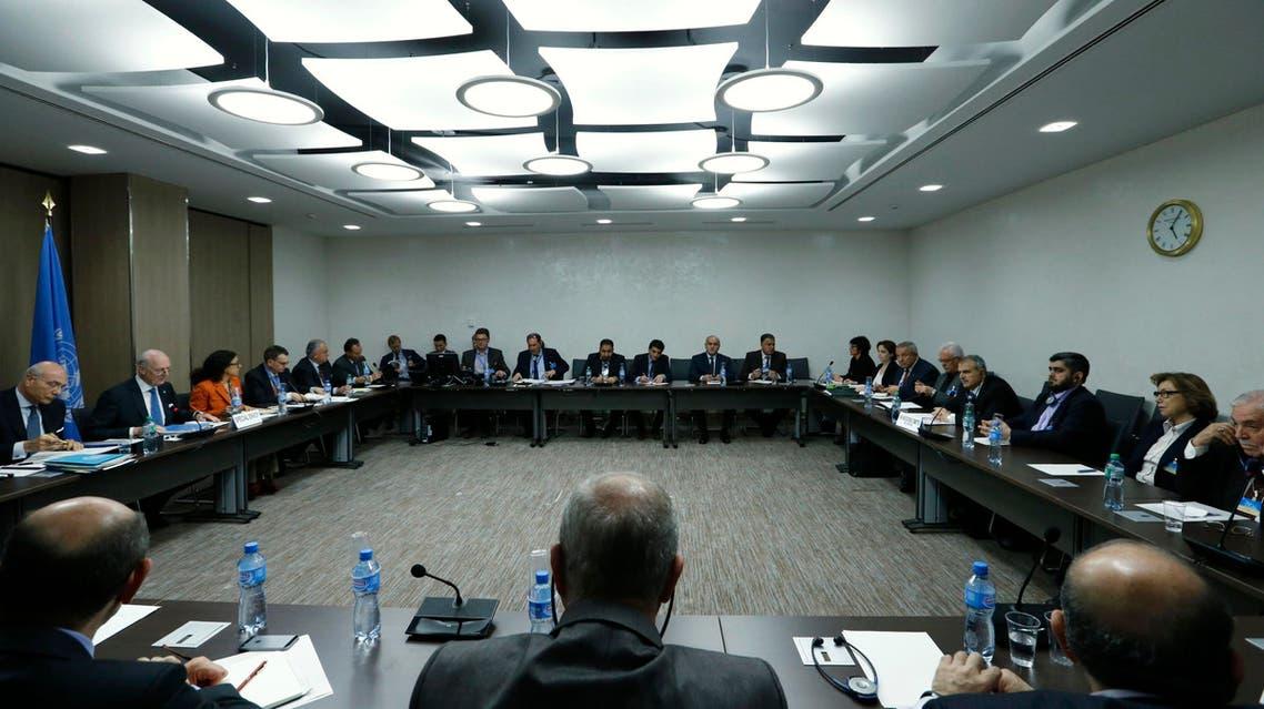 لقاء وفد المعارضة السورية مع دي ميستورا في جنيف