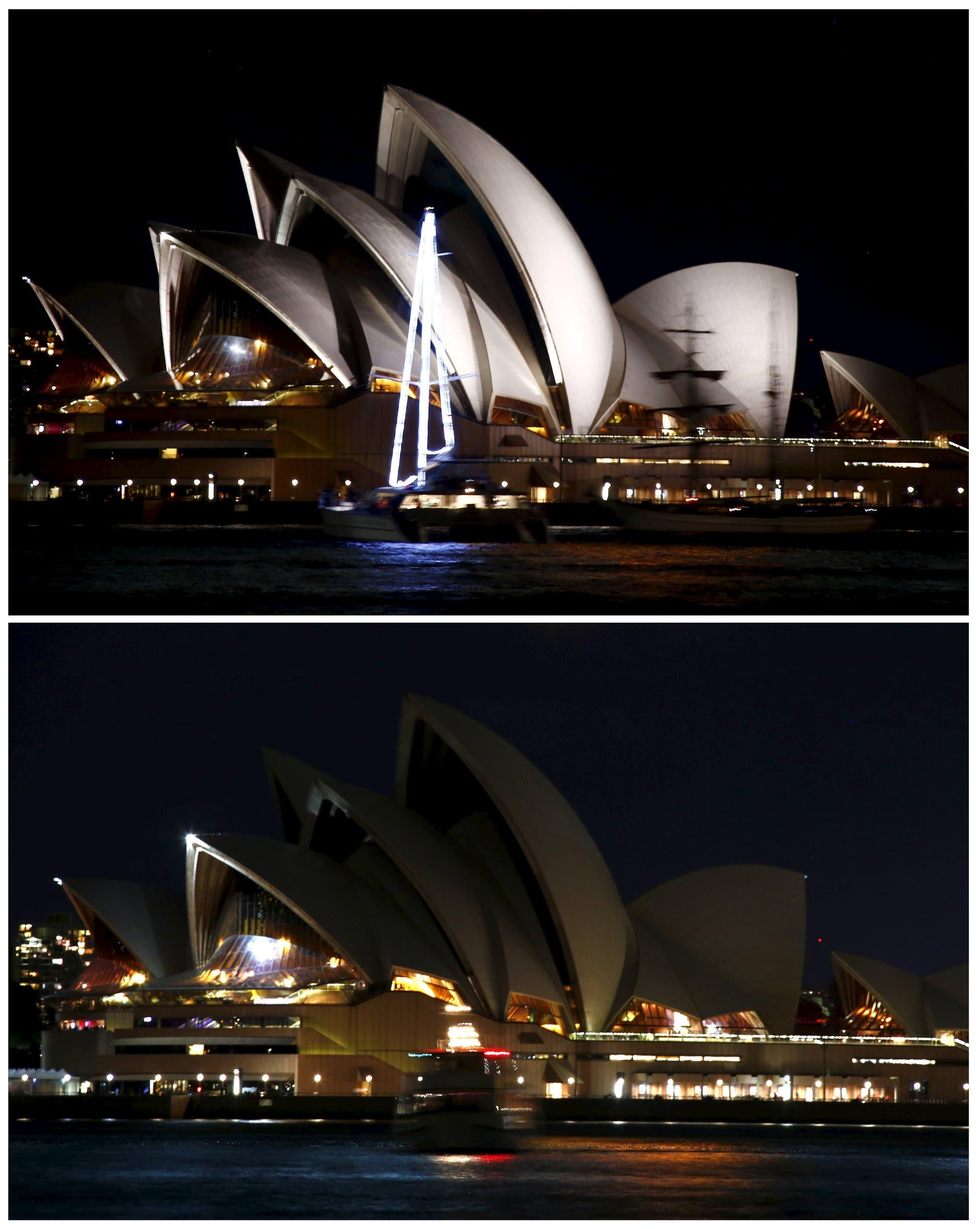 ساعة الأرض في سيدني بأستراليا