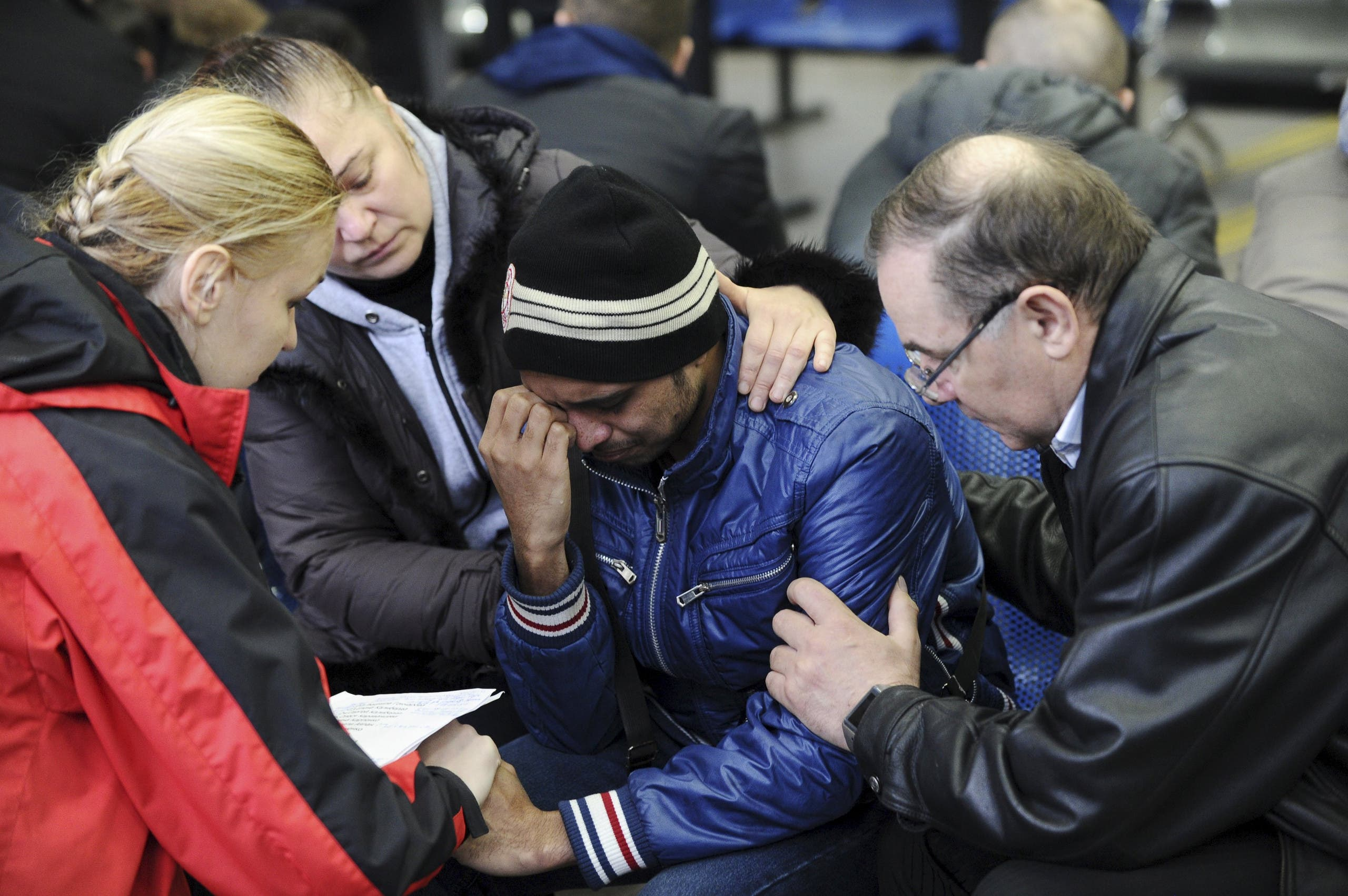 Relative of a victim of crashed Flydubai Boeing 737-800 reacts at airport of Rostov-On-Don. (Reuters)