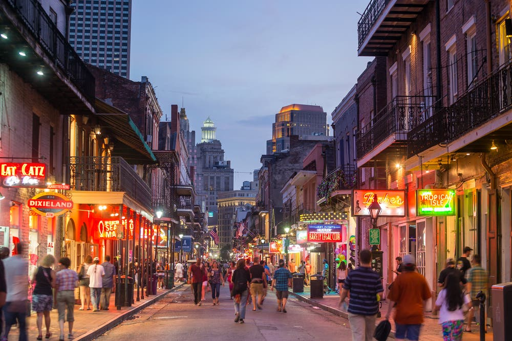 The French Quarter, downtown New Orleans. (Shutterstock)