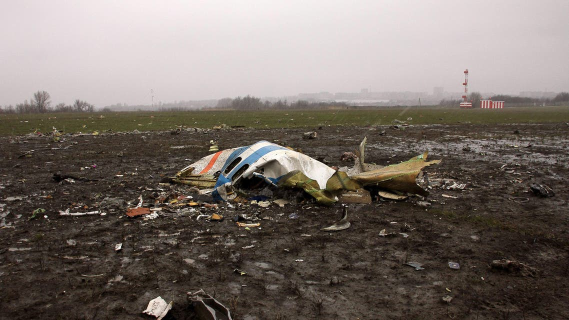 View shows crash site of Flydubai Boeing 737-800 in Rostov-On-Don. (Reuters)