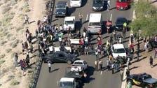 Protesters block main road to Trump rally in Arizona