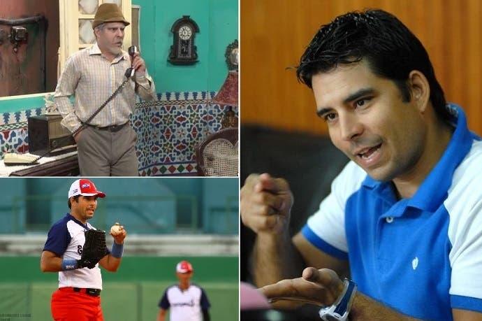 لويس سيلفا، الشهير بدور الأبله في التلفزيون الرسمي بكوبا، هو لاعب بيسبول فيها أيضا