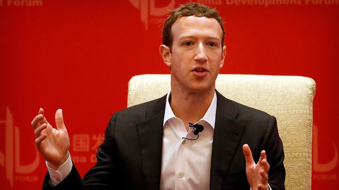 Facebook CEO Mark Zuckerberg speaks during a panel discussion held as part of the China Development Forum at the Diaoyutai State Guesthouse in Beijing, Saturday, March 19, 2016. (AP Photo)