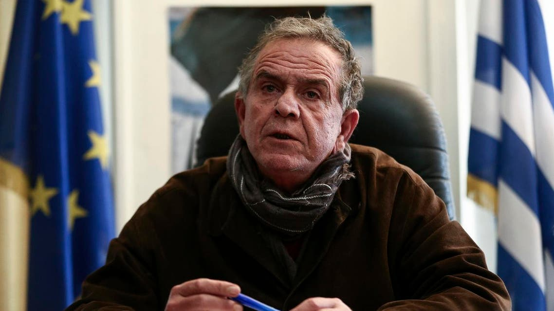 In this photo taken on Wednesday, Dec. 30, 2015, Ioannis Mouzalas, Greece's minister responsible for migration issues, speaks during an interview with the Associated Press in Athens. (AP)