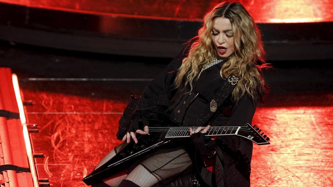 Madonna performs during her Rebel Heart Tour concert at Studio City in Macau, China February 20, 2016. REUTERS