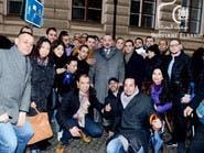 بالصور..العاهل المغربي مع مواطنين مغاربة في مدينة براغ