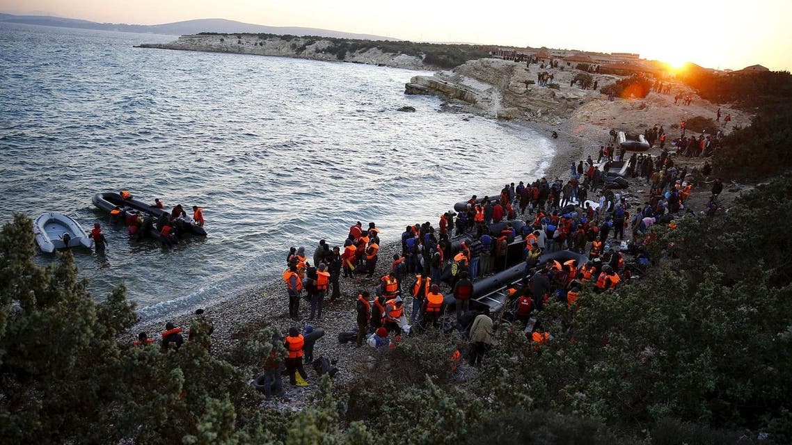 File photo of refugees gathering at a beach to try to sail off for the Greek island of Chios from the western Turkish coastal town of Cesme. (Reuters)