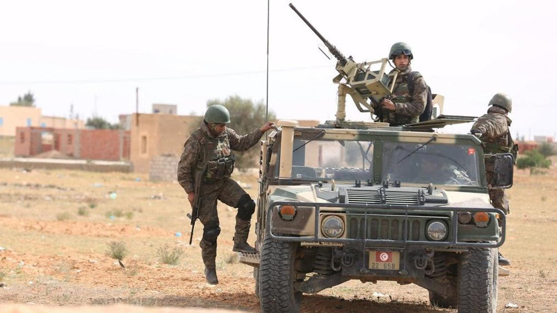 Britain has also sent troops to train Tunisian forces guarding the Libyan border, which has been fortified along half of its length (Reuters)