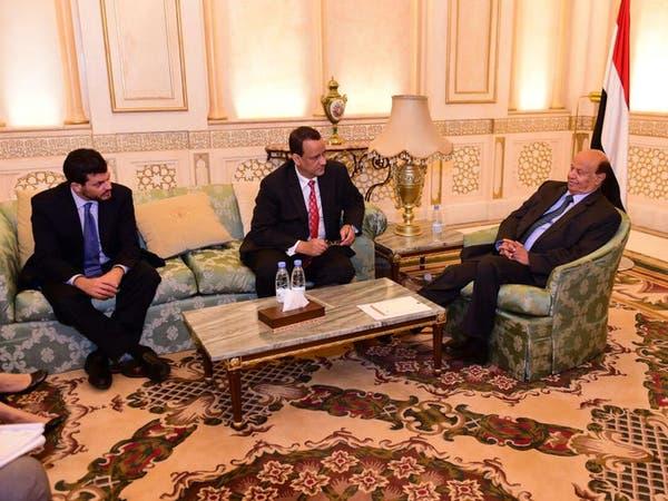 هادي يؤكد لولد الشيخ مساعيه لإحلال سلام دائم في اليمن