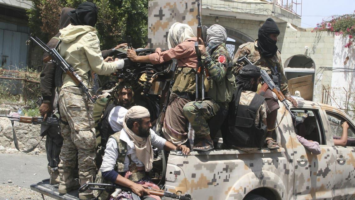 عناصر من المقاومة الشعبية في اليمن - تعز 3