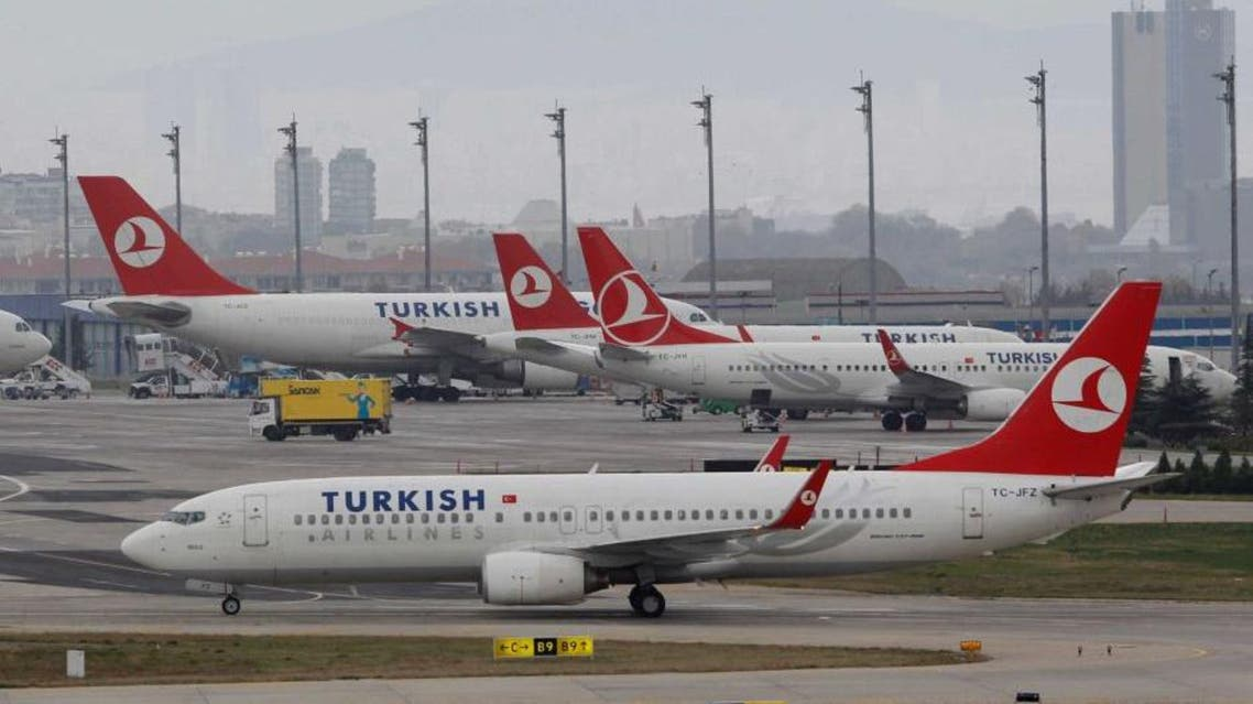 A Turkish Airlines plane prepares to take off from Ataturk International, which is currently the country's largest airport (Reuters)