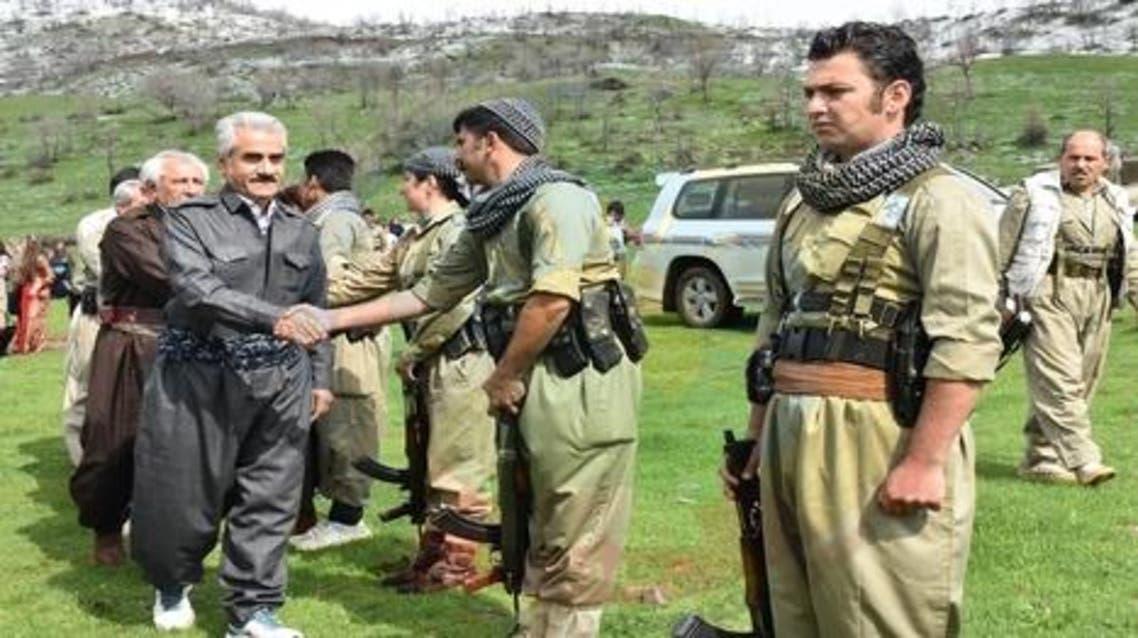 هجري يتفقد بيشمركة كردستان ايران