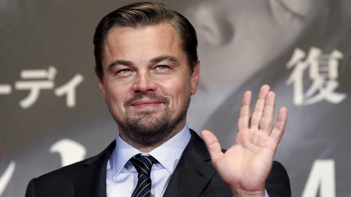 """Oscar-winning actor Leonardo DiCaprio waves as he attends the Japan premiere of his movie """"The Revenant"""" in Tokyo, Japan. (Reuters)"""