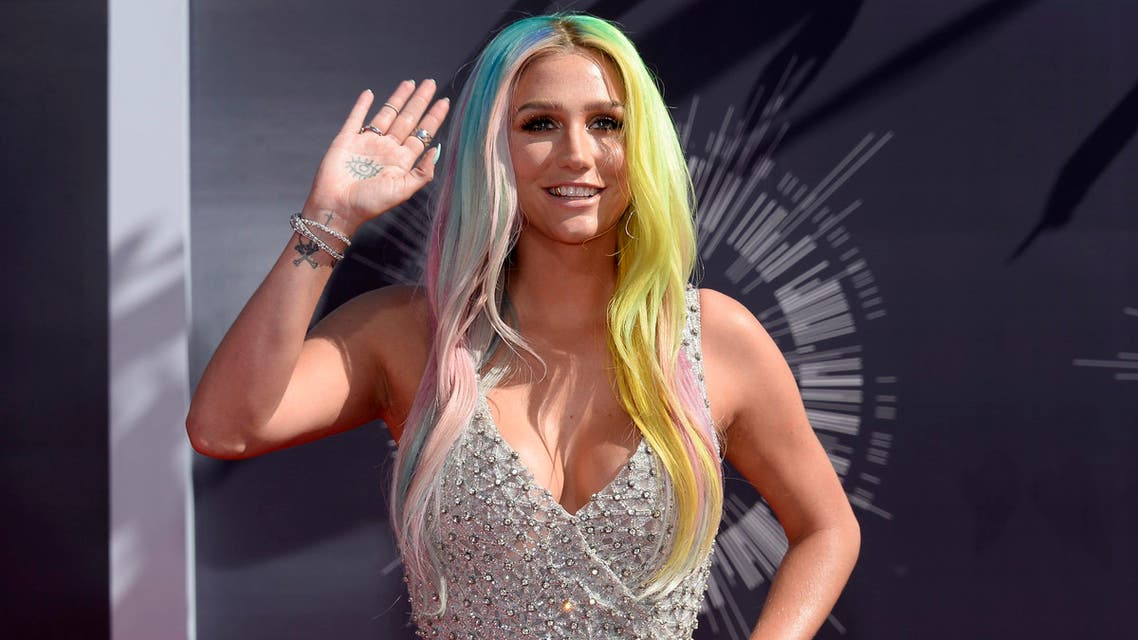 Kesha arrives at the 2014 MTV Music Video Awards in Inglewood. (Reuters)