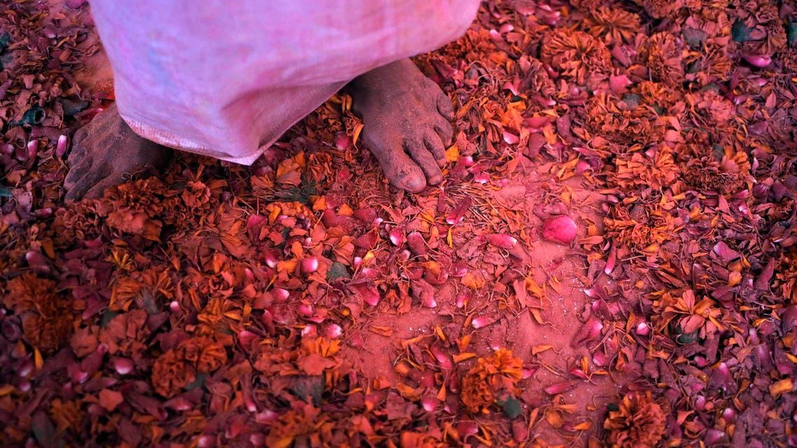 Widows celebrate Holi
