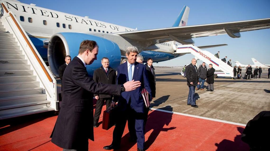 U.S. Secretary of State John Kerry arrives at Vnukovo international airport near Moscow, Russia, March 23, 2016 (Reuters)
