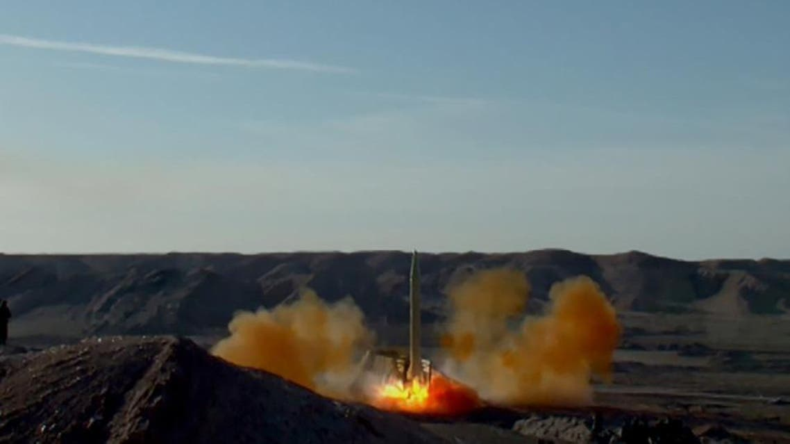 A handout picture released on March 8, 2016 by Sepah News, the online news site and public relations arm of Iran's Islamic Revolutionary Guard, shows a ballistic missile being launched during a test in an undisclosed location (AFP)