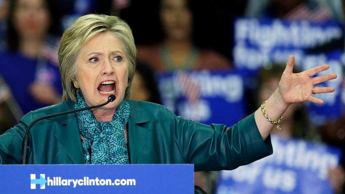 Democratic presidential candidate Hillary Clinton speaks Tuesday, March 22, 2016, during a campaign rally at Rainier Beach High School in Seattle. (AP)