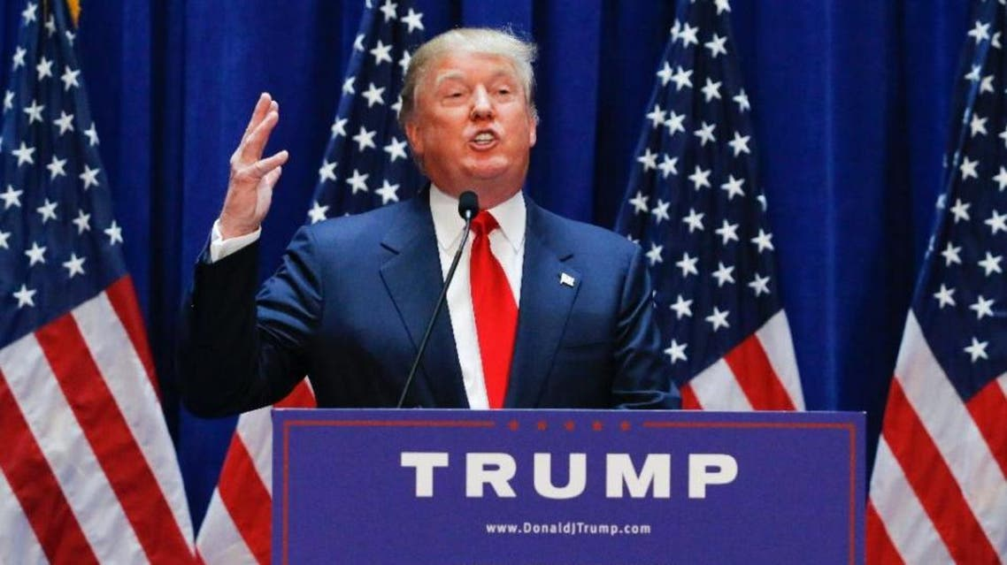 Donald Trump announces his bid for the presidency in New York City on June 16, 2015 (AFP)