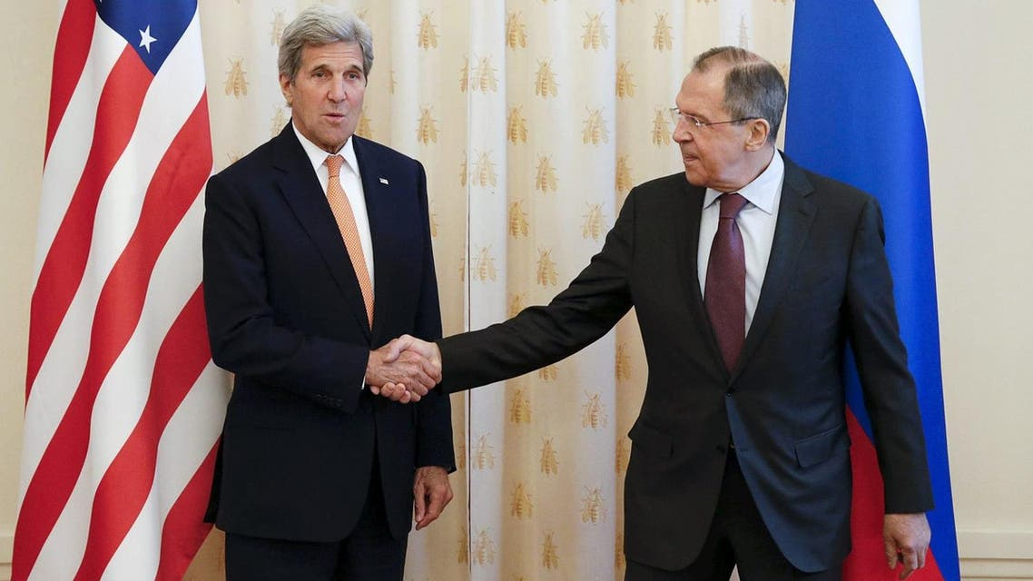 Russian Foreign Minister Lavrov meets US Secretary of State Kerry in Moscow. (Reuters)