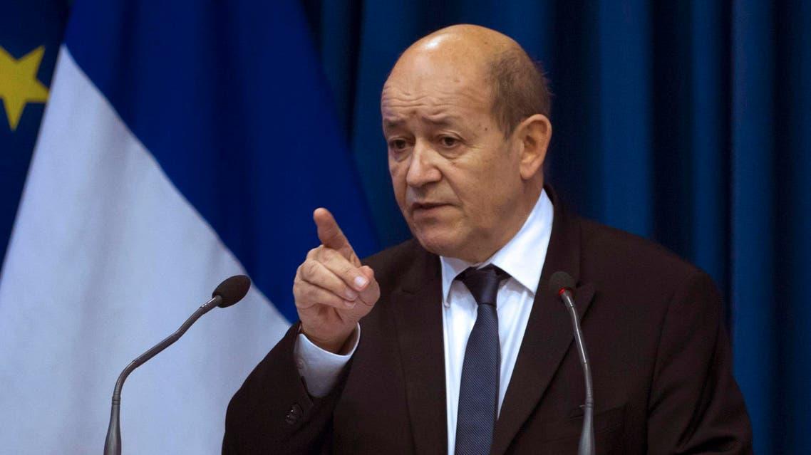 وزير الدفاع الفرنسي جان ايف لو دريان