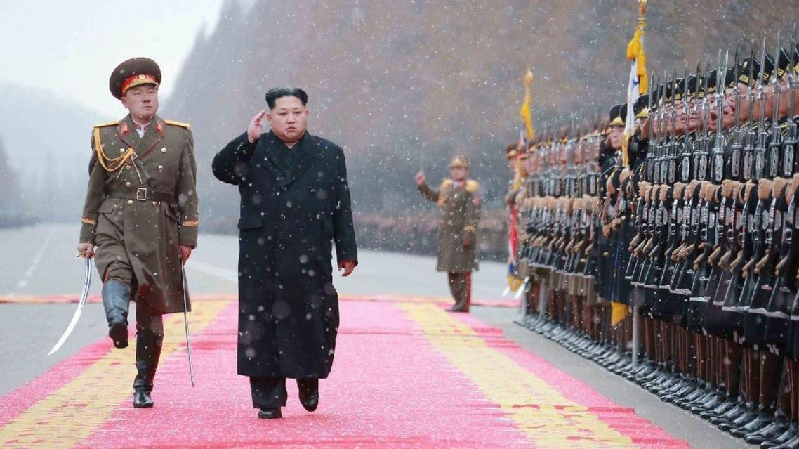North Korean leader Kim Jong-Un (2nd L) inspects the Ministry of the People's Armed Forces in Pyongyang on January 10, 2016 (AFP)