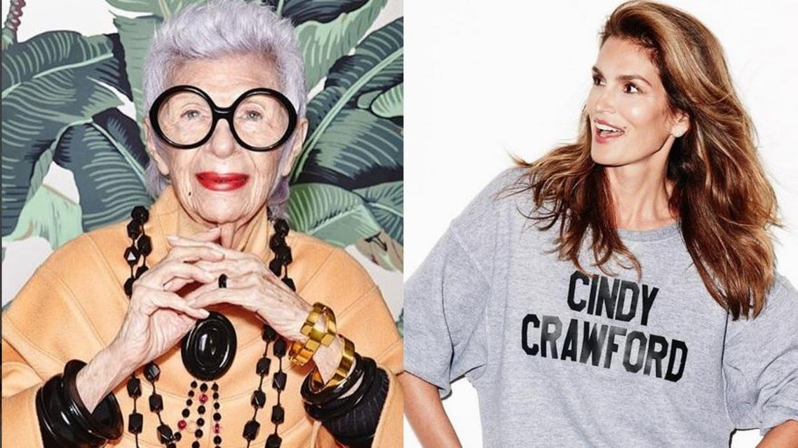 From Cindy Crawford to Iris Apfel, here are the older women still rocking the fashion industry. (Photos courtesy: Instagram)