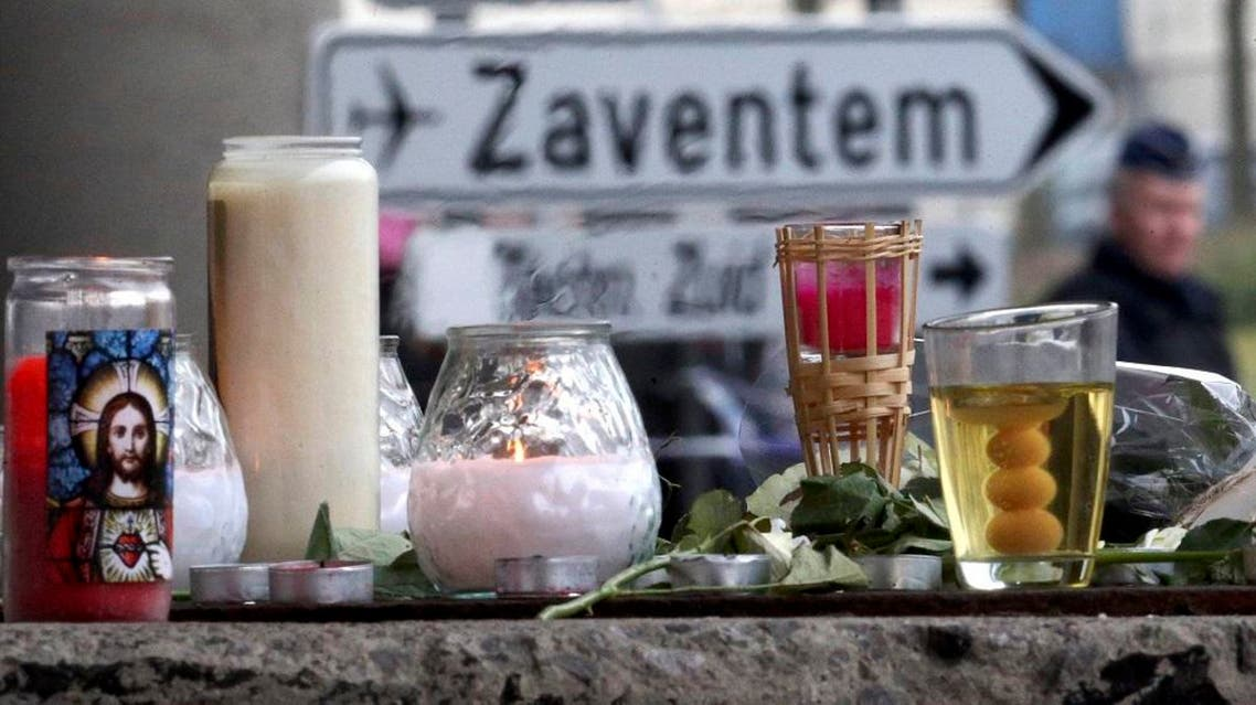 A street memorial to victims of Tuesday's Zaventem airport bombings is seen in Brussels, Belgium, March 24, 2016 (Reuters)