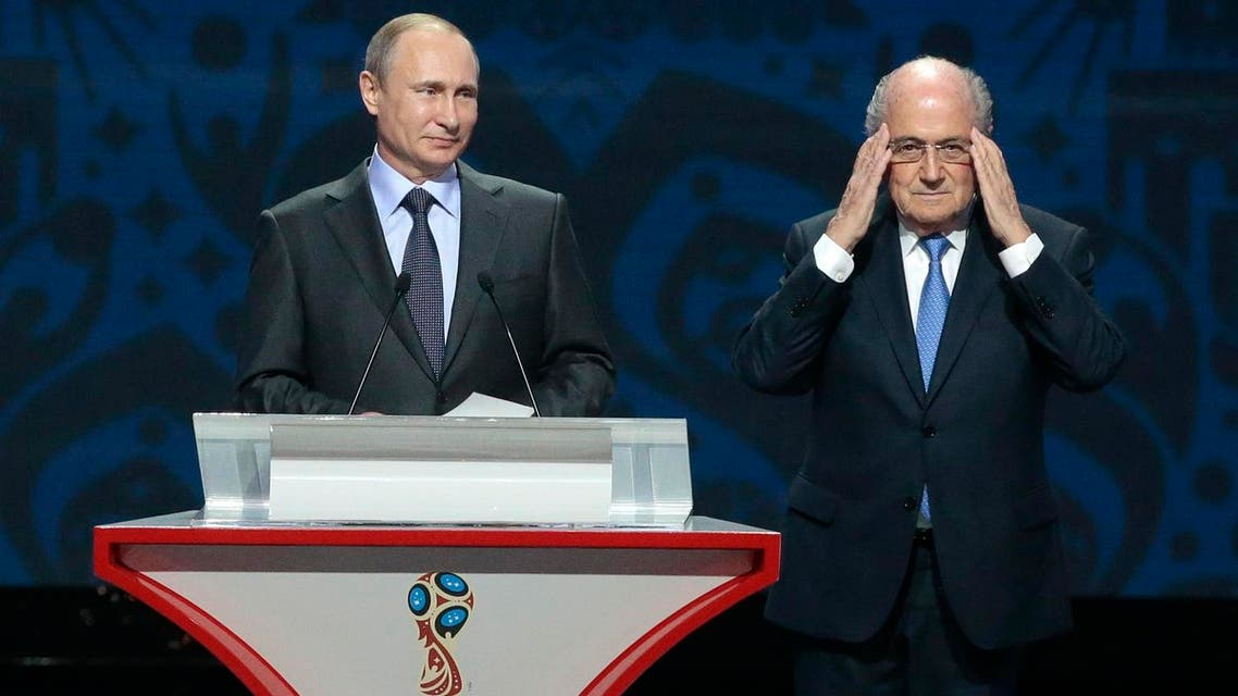 According to a report in the Frankfurter Allgemeine Zeitung (FAZ), Blatter this week wrote to accept Putin's offer to be his guest of honour for the 2018 finals. (File photo: AP)