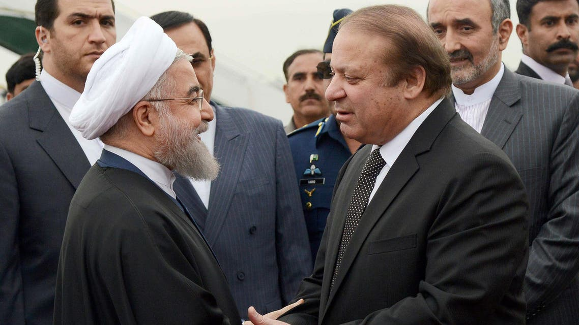 """Iran's Hassan Rowhani arrived Friday in Pakistan on a landmark visit, his first since becoming president, at a time when Saudi Arabia is courting Islamabad to increase participation in a new Saudi-led military alliance of mostly Sunni nations, a coalition perceived by Tehran as an anti-Shiite block.  In a televised statement following meetings between Rowhani and Pakistan Prime Minister Nawaz Sharif, the two leaders said they wanted to forge a relationship built on economic development and shared interests.  Inside the prime minister's residence in the Pakistani capital, Islamabad, the two leaders announced the signing of several memorandums of understanding in fields such as health, diplomatic training, trade and commerce.  They also announced the opening of two additional border crossings between the two nations.  Speaking through an interpreter, Rowhani said Pakistan's security was as important to Iran as its own. He said terrorism is a scourge both countries face.  Pakistan, a majority Sunni country, has traditionally close ties with Saudi Arabia, which is hostile to Iran, a Shiite power. The kingdom accuses Tehran of supporting Shiite Houthi rebels in Yemen against the internationally recognized president, Abed Rabbo Mansour Hadi.  Saudi Arabia has been leading a coalition of mostly Gulf Arab states in a blistering air-campaign against the Houthis in the conflict in Yemen, widely seen as a proxy Saudi-Iran war.  Last year, Pakistan refused a Saudi request to send troops into Yemen after a vote in Parliament delivered an overwhelming """"no."""" Prime Minister Nawaz Sharif visited the kingdom in January, expressing support for the alliance but without making any military commitment. Local Pakistani papers have carried unconfirmed reports that Saudi Arabia asked Pakistan's military chief, Raheel Sharif, to head the alliance.  Rowhani's visit is also a landmark moment for Iran, after international sanctions were lifted in the wake of the nuclear deal between the Islamic"""