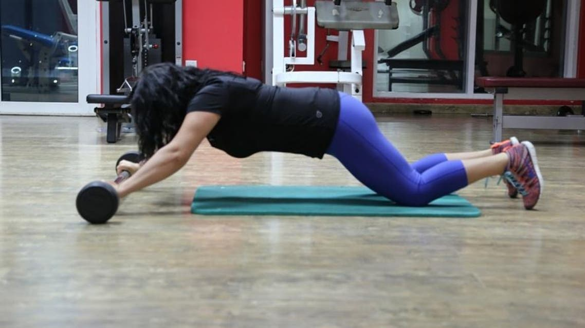 Intensive total-body strength workouts are a great way to boost endorphin levels, challenge your abilities and increase your calorie burn. (Vahdaneh Vahid/Al Arabiya English)