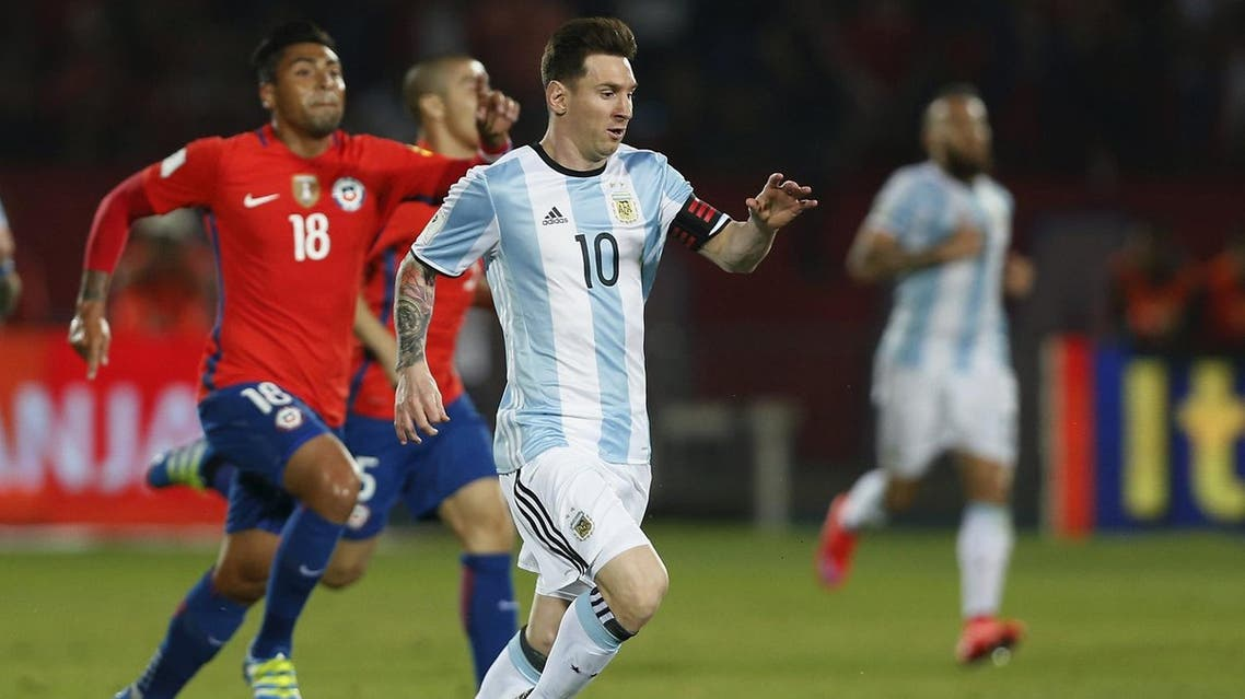 Messi, who had missed the first four games last year with a knee injury, laid on the 24th-minute winner for defender Gabriel Mercado after Angel Di Maria had cancelled out Felipe Gutierrez's opener for Chile. (Reuters)