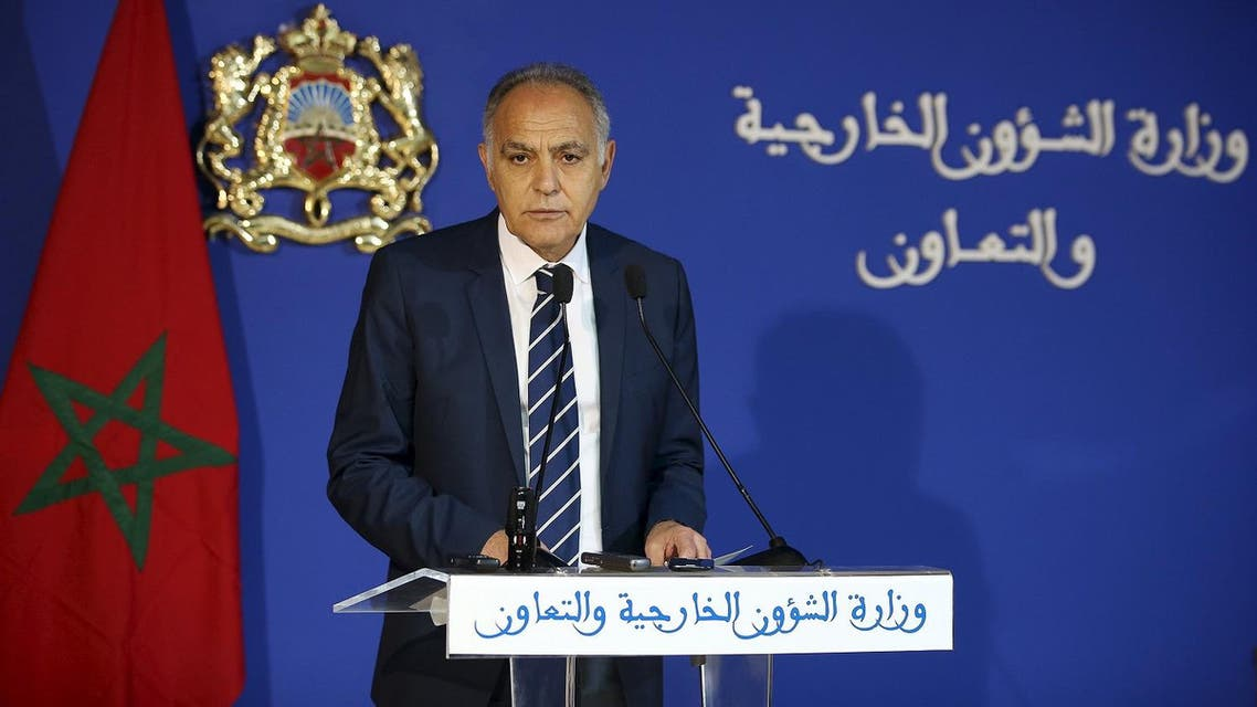 Moroccan Foreign Minister Salaheddine Mezouar speaks during a news conference on a dispute with the United Nations, at the Foreign Ministry in Rabat. (Reuters)