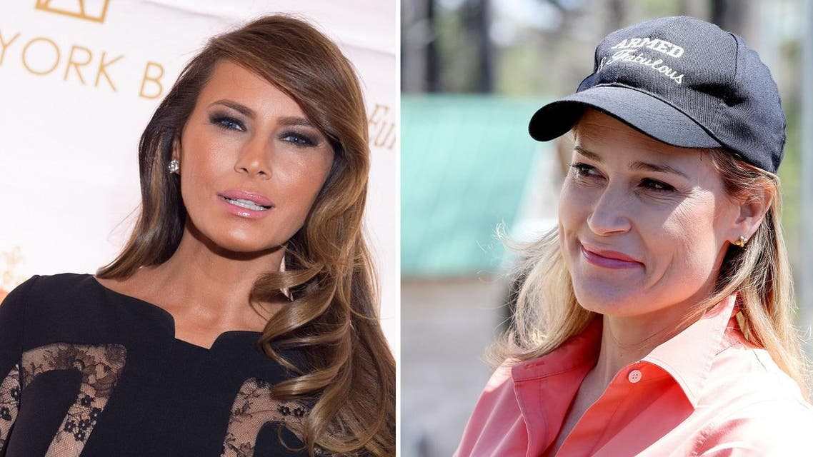 Trump stoked the spat on Twitter when he retweeted side-by-side images of Cruz's wife and his wife Melania. (AP)