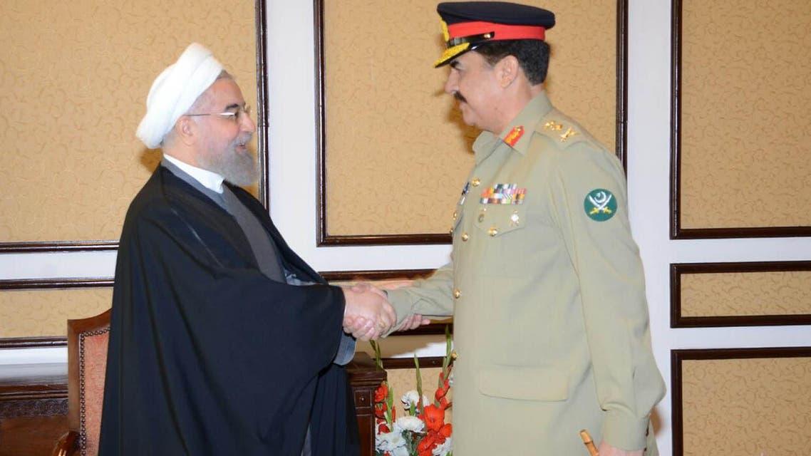 Pakistan Army Chief meets Iranian President