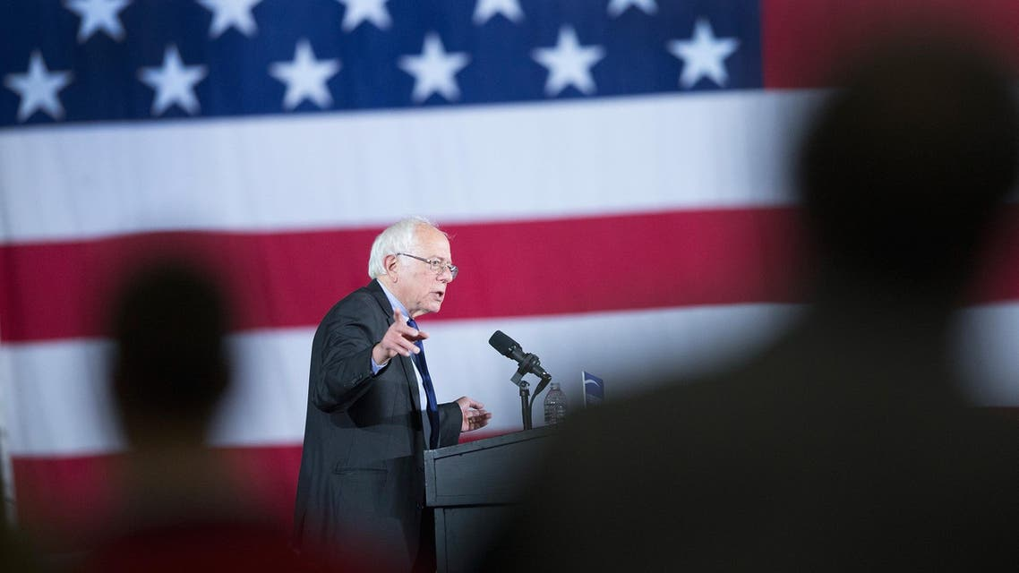 Democratic presidential candidate Senator Bernie Sanders (D-VT) speaks at a campaign rally at the Alliant Energy Center on March 26, 2016 in Madison, Wisconsin. (AFP)