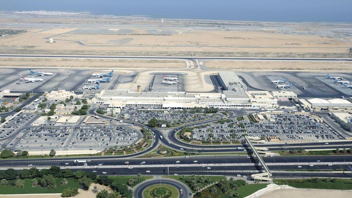 An view shows Muscat's  international airport (AP)