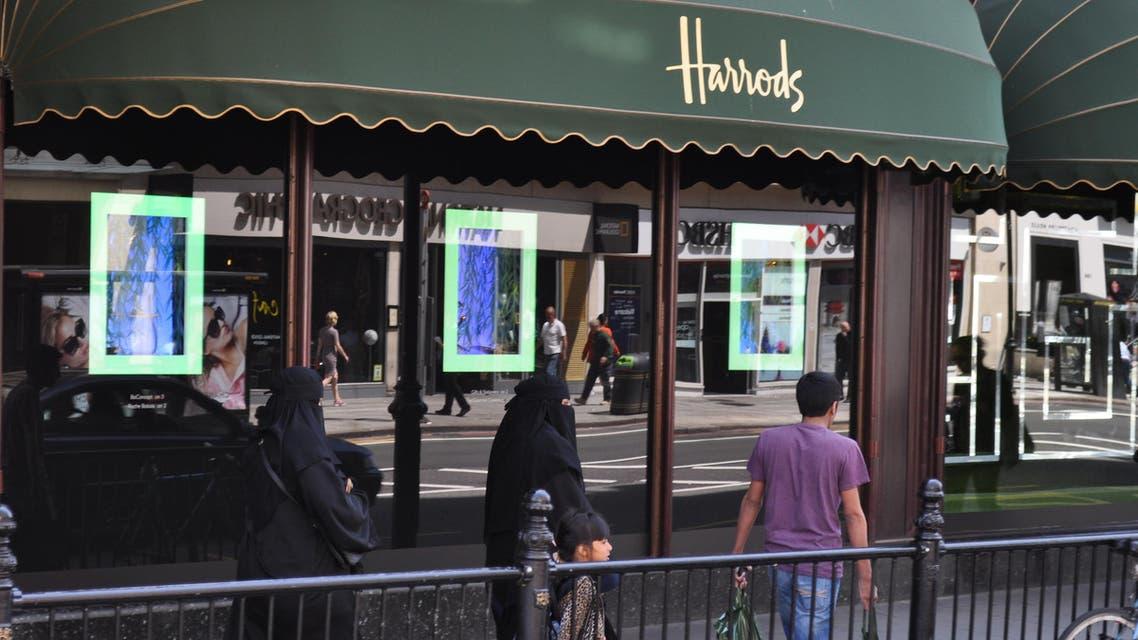 Shoppers outside Harrods in Knightsbridge, London, pictured on June 17, 2014