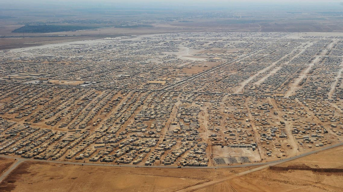 An aerial view shows the Zaatari refugee camp in Mafraq, Jordan, Thursday, July 18, 2013. AP