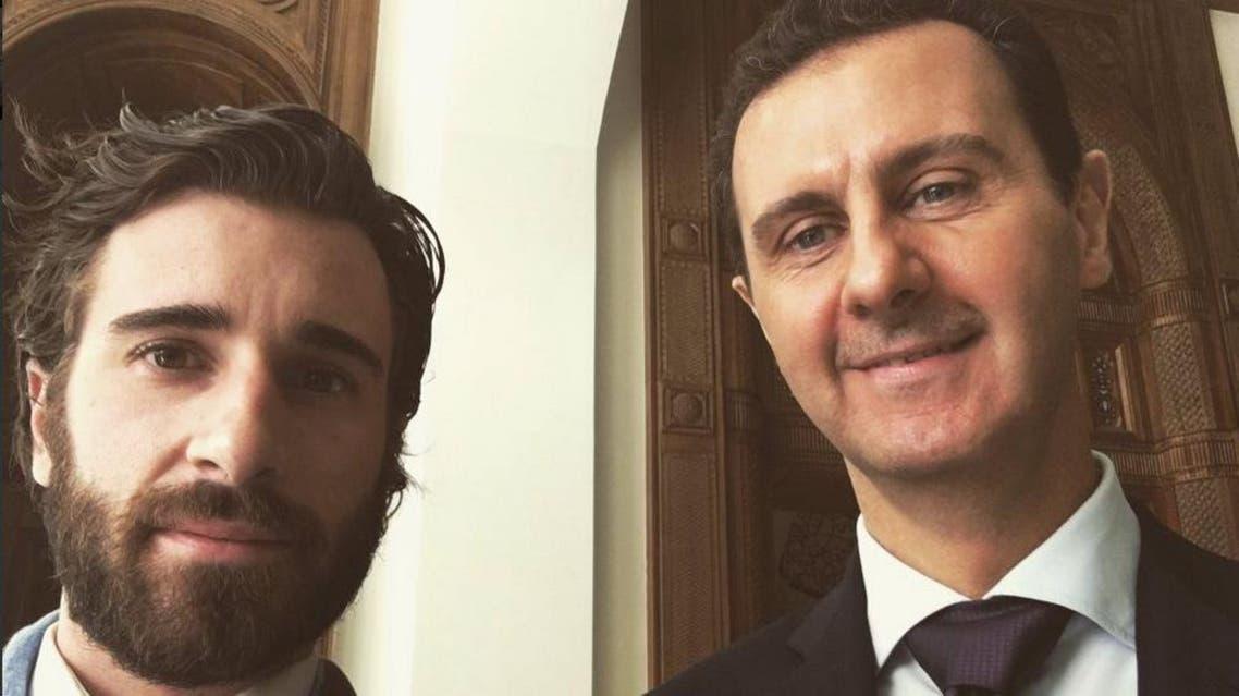 Selfie with Bashar. (Twitter: @JRochedy)