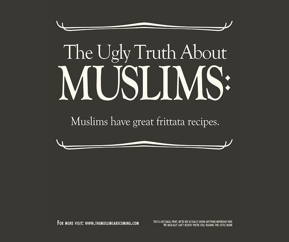 The ad campaign strives to combat negative perceptions of Muslims. (Courtesy: Negin Farsad and Dean Obeidallah)