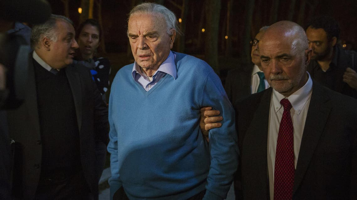 Former Brazilian Football Confederation (CBF) president Jose Maria Marin, exits the Eastern District of New York US Courthouse in Brooklyn, New York, November 3, 2015. Marin, one of 14 people indicted in a corruption case that has rocked the soccer world's governing body FIFA, pleaded not guilty in a US court on Tuesday. (Reuters)
