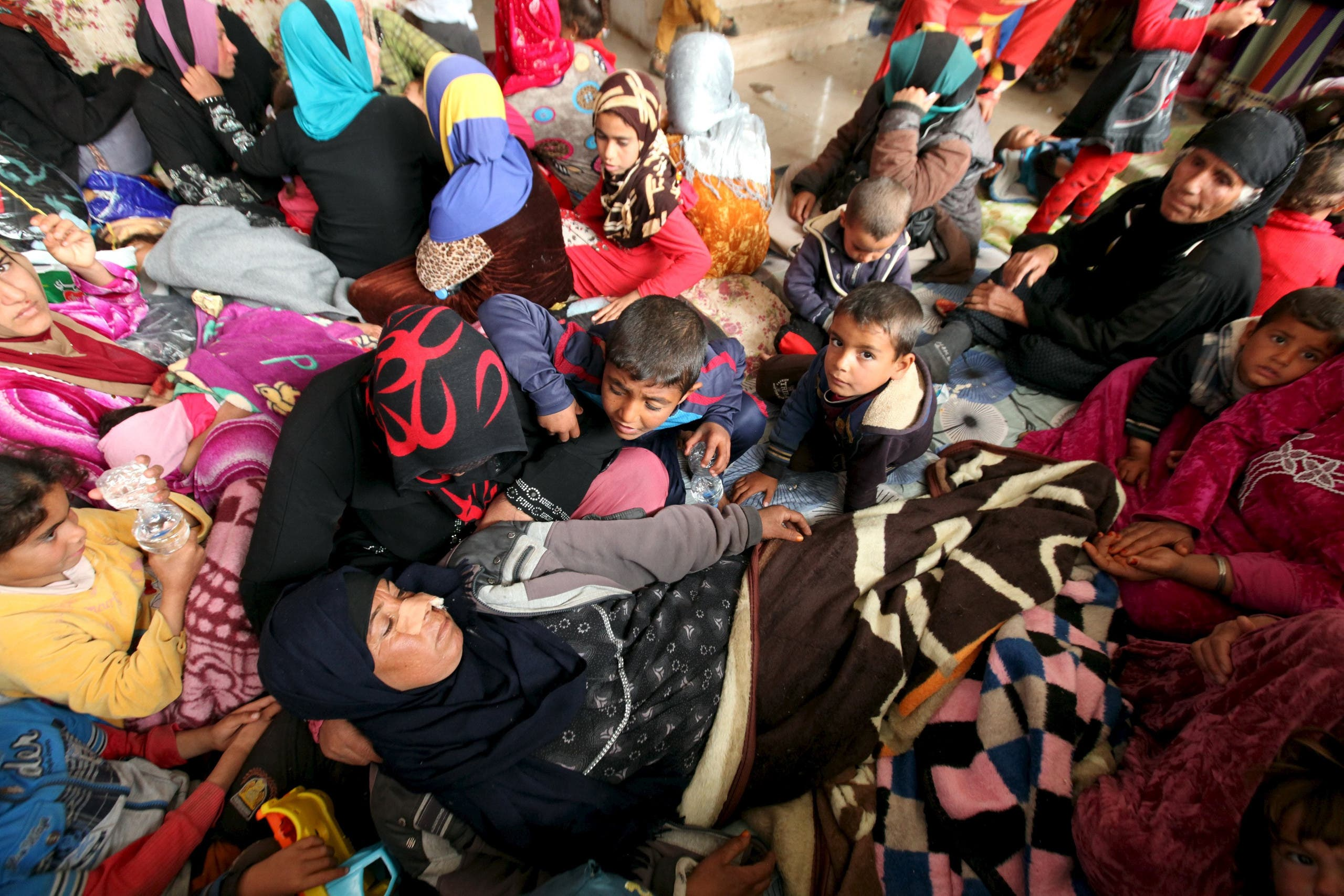 Temporary shelter for the displaced in southeast of Mosul