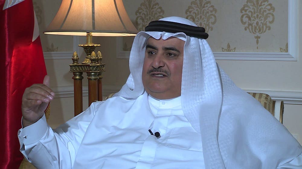 Sheikh Khalid bin Ahmed Al Khalifa said Iran needs to widely change its regional behavior before meaningful dialogue. (Al Arabiya)