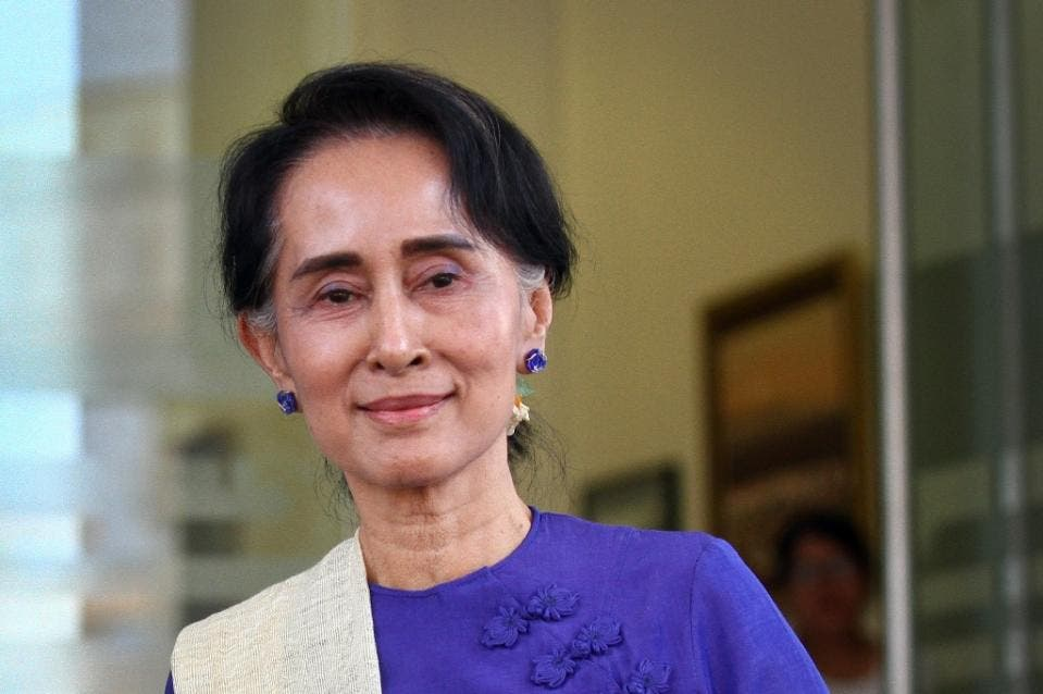 Aung San Suu Kyi is the figurehead of a near 30-year struggle to end military domination in Myanmar (AFP)