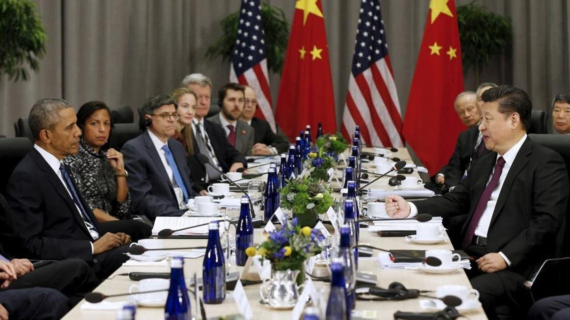 U.S. President Barack Obama (L) meets with Chinese President Xi Jinping (R) at the Nuclear Security Summit in Washington, March 31, 2016 (Reuters)