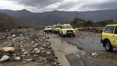 السعودية: وفاة شخصين وإنقاذ 33 جراء الأمطار