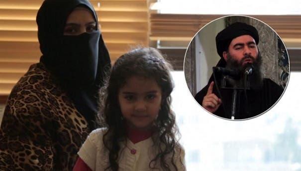 طليقة البغدادي وابنتها منه، واسمها هاجر
